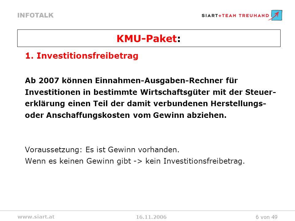 16.11.2006 INFOTALK www.siart.at 6 von 49 1.