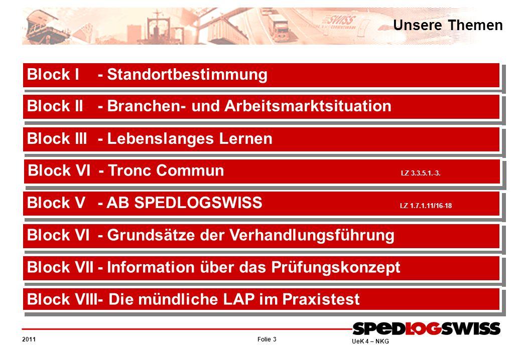 Folie 44 2011 UeK 4 – NKG Information über das Prüfungskonzept Schriftliche Lehrabschlussprüfung