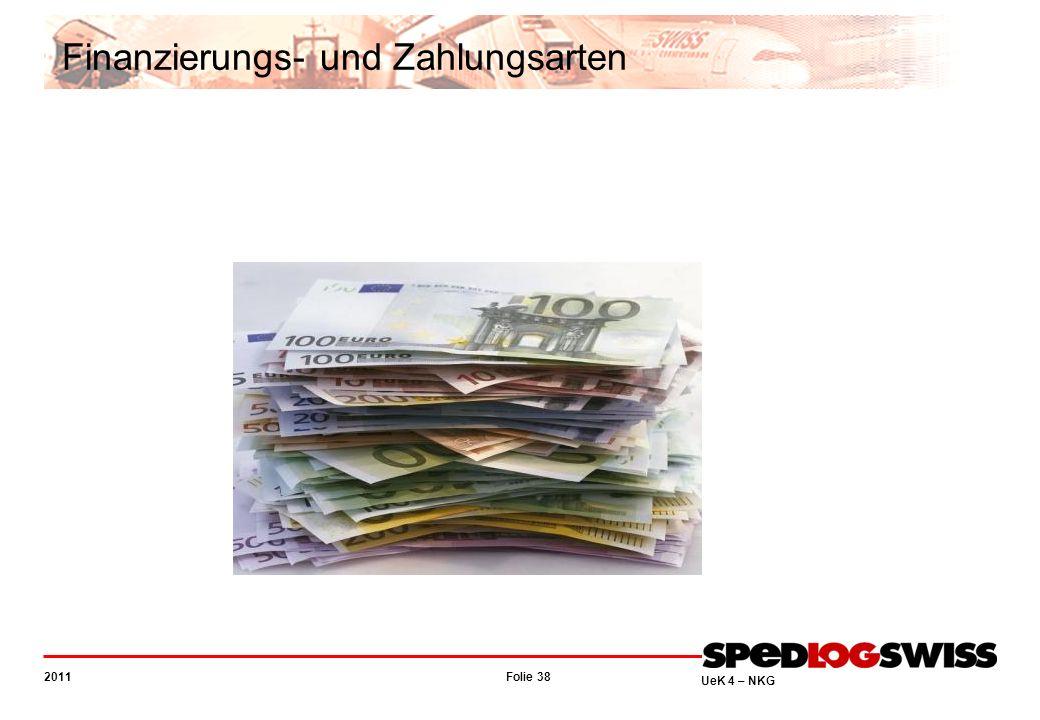 Folie 38 2011 UeK 4 – NKG Finanzierungs- und Zahlungsarten