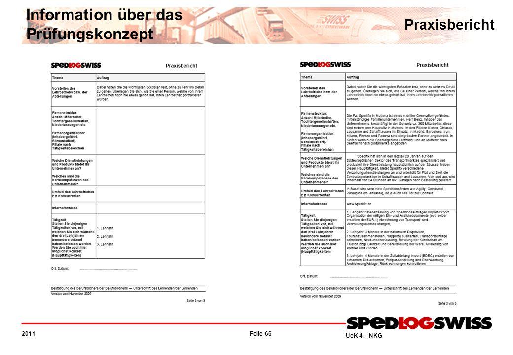 Folie 66 2011 UeK 4 – NKG Information über das Prüfungskonzept Praxisbericht