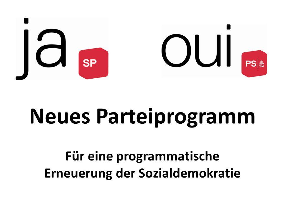 Neues Parteiprogramm Für eine programmatische Erneuerung der Sozialdemokratie