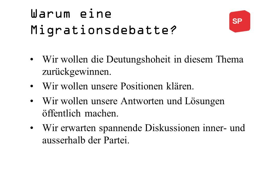 Warum eine Migrationsdebatte.Wir wollen die Deutungshoheit in diesem Thema zurückgewinnen.
