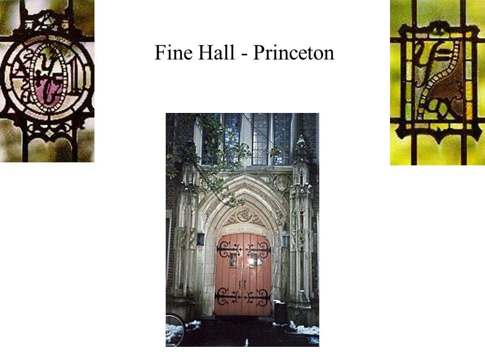 Fine Hall - Princeton