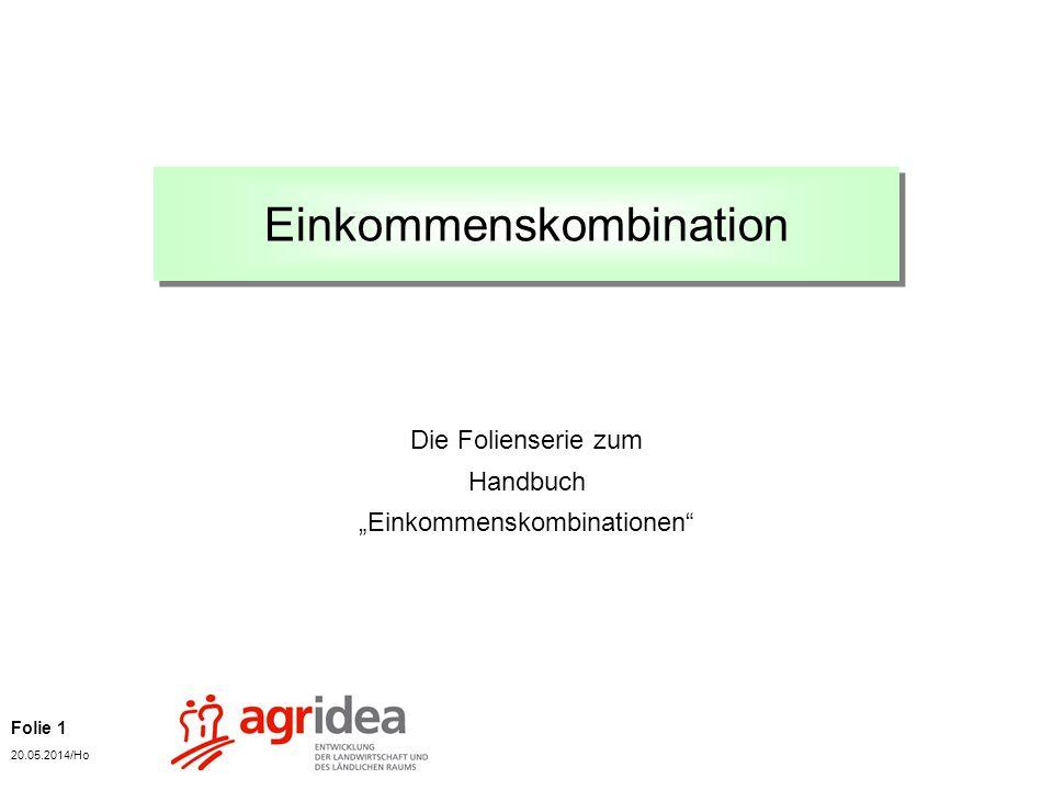 Folie 1 20.05.2014/Ho Einkommenskombination Die Folienserie zum Handbuch Einkommenskombinationen