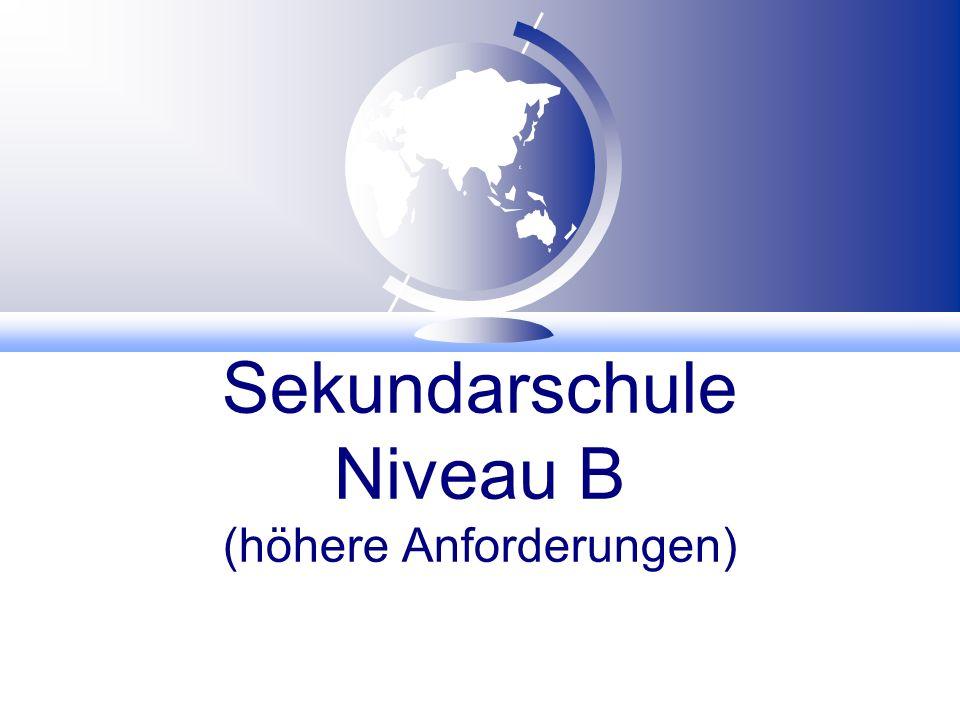 Sekundarschule Niveau B (höhere Anforderungen)