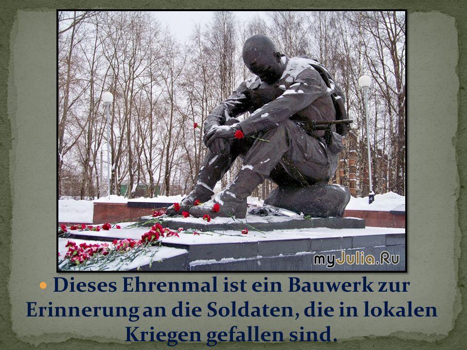 Dieses Ehrenmal ist ein Bauwerk zur Erinnerung an die Soldaten, die in lokalen Kriegen gefallen sind.