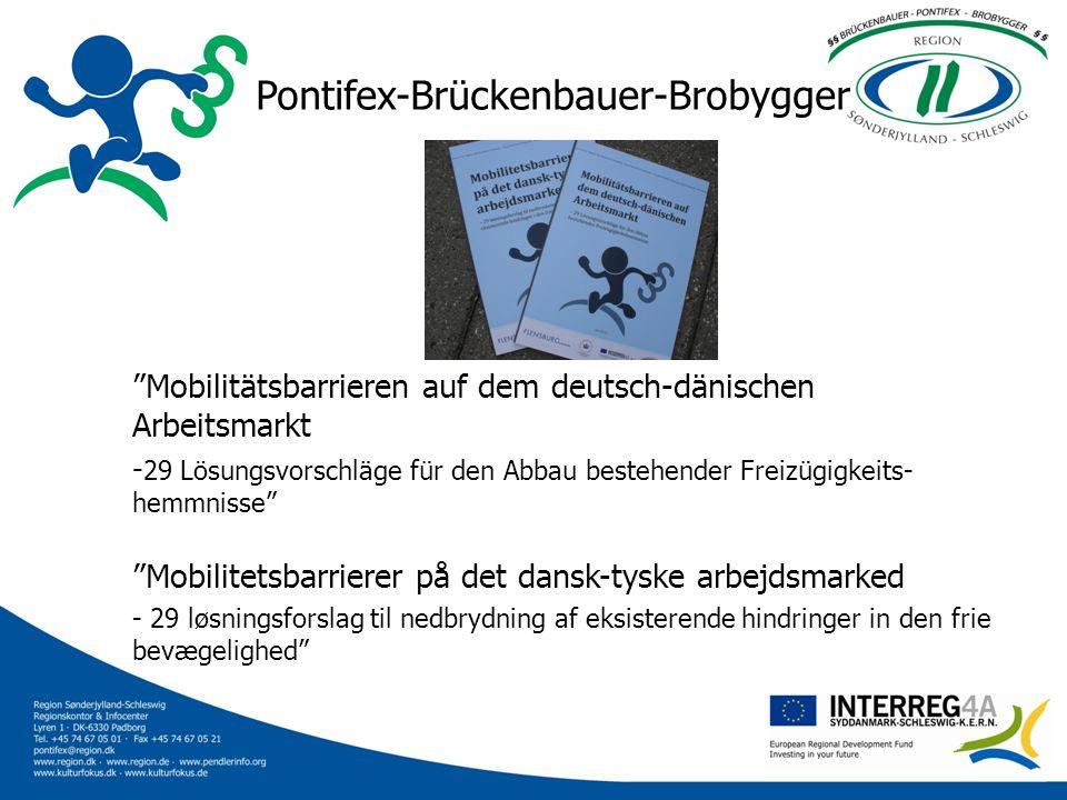 Ziele des Projekts / Projektets mål Das übergeordnete Ziel des Projektes ist es, die Mobilität der Arbeitnehmer zu erhöhen und Barrieren auf dem grenzüberschreitenden Arbeitsmarkt abzubauen Projektets overordnede mål er at øge arbejdstagernes mobilitet og fjerne barrierer på det grænseoverskridende arbejdsmarked