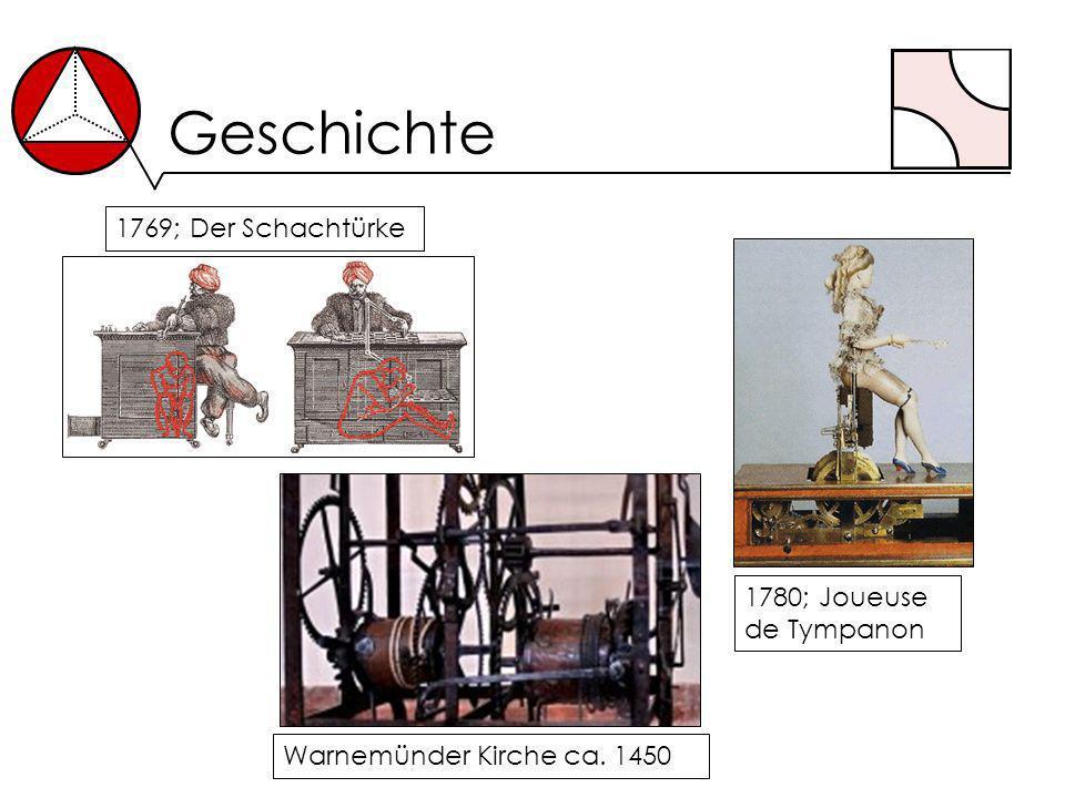 Geschichte 1769; Der Schachtürke 1780; Joueuse de Tympanon Warnemünder Kirche ca. 1450
