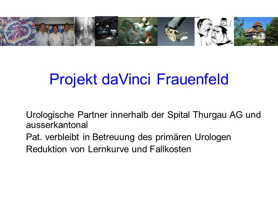Projekt daVinci Frauenfeld Urologische Partner innerhalb der Spital Thurgau AG und ausserkantonal Pat.