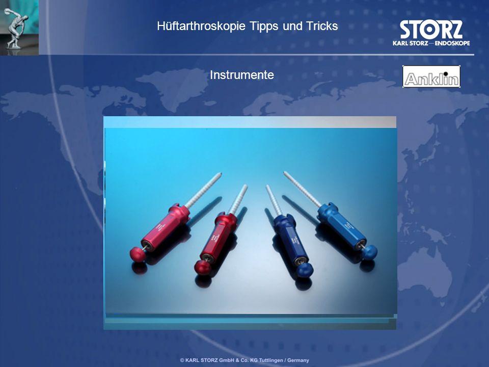 Instrumente Hüftarthroskopie Tipps und Tricks