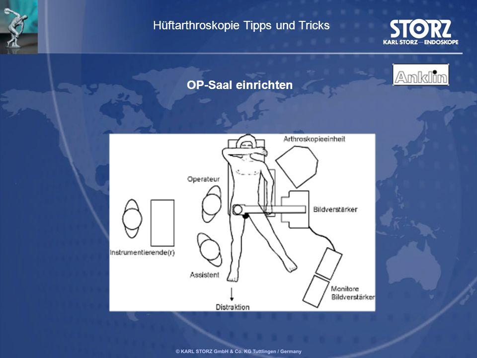 Hüftarthroskopie Tipps und Tricks OP-Saal einrichten