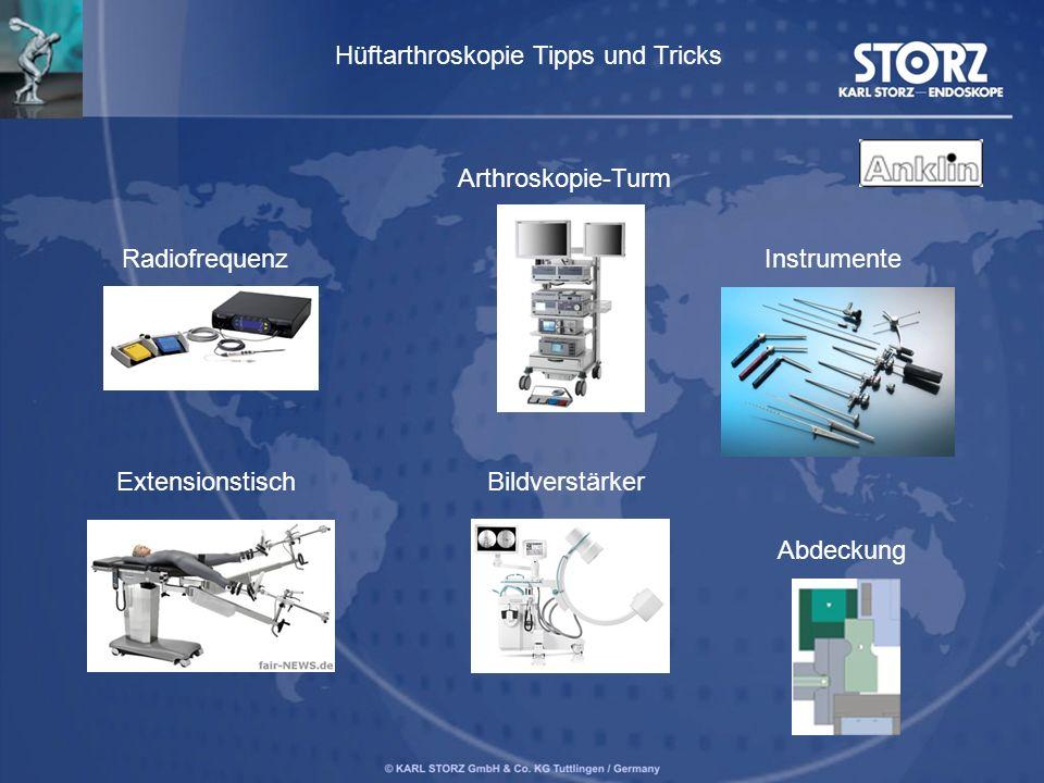 Radiofrequenz Extensionstisch Arthroskopie-Turm Bildverstärker Instrumente Abdeckung Hüftarthroskopie Tipps und Tricks
