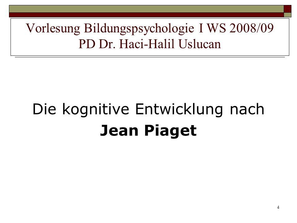 4 Die kognitive Entwicklung nach Jean Piaget