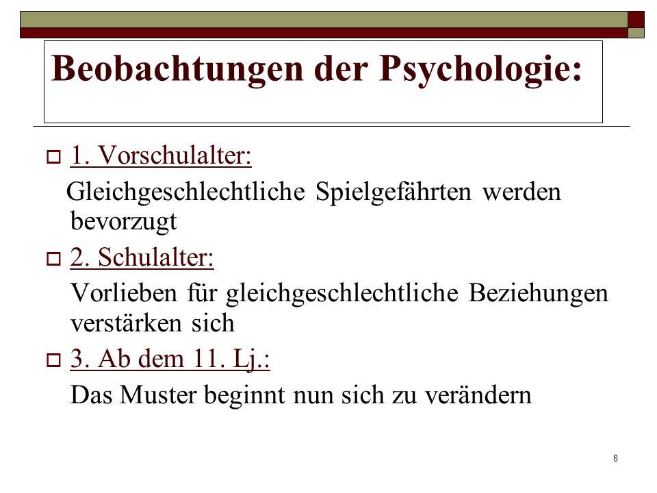 8 Beobachtungen der Psychologie: 1.