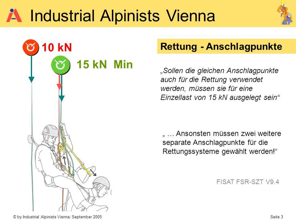 © by Industrial Alpinists Vienna; September 2005 Seite 3 Industrial Alpinists Vienna Rettung - Anschlagpunkte … Ansonsten müssen zwei weitere separate
