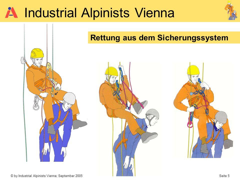 © by Industrial Alpinists Vienna; September 2005 Seite 5 Industrial Alpinists Vienna Rettung aus dem Sicherungssystem