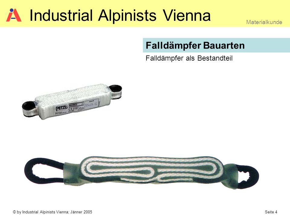 © by Industrial Alpinists Vienna; Jänner 2005 Seite 4 Materialkunde Industrial Alpinists Vienna Falldämpfer Bauarten Falldämpfer als Bestandteil