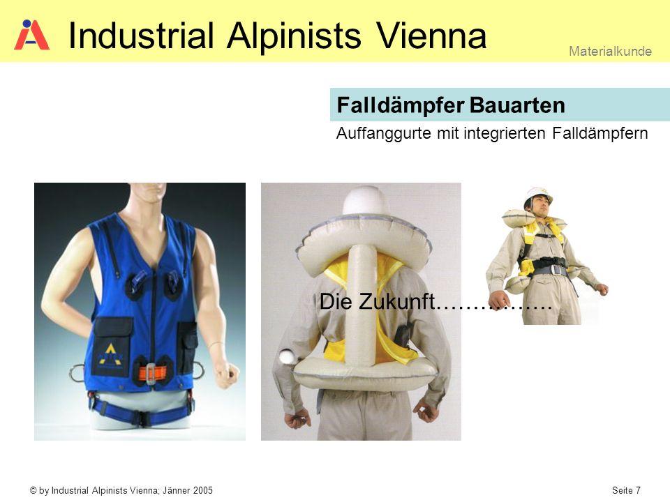 © by Industrial Alpinists Vienna; Jänner 2005 Seite 8 Materialkunde Industrial Alpinists Vienna Verbindungsmittel EN 354 Verbindungsmittel