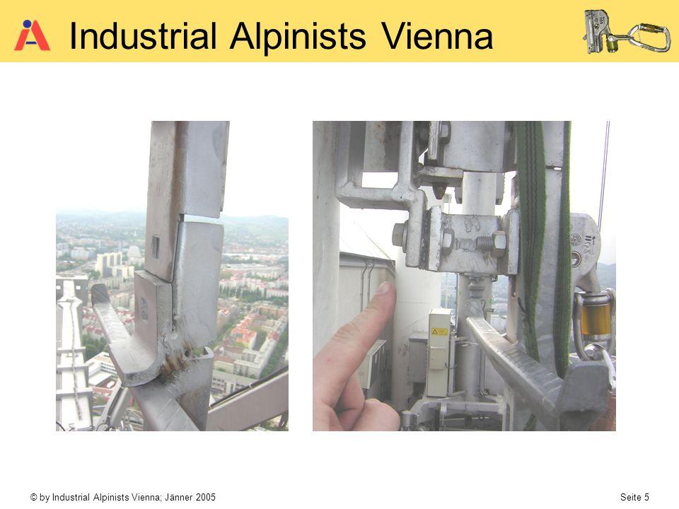 © by Industrial Alpinists Vienna; Jänner 2005 Seite 6 Industrial Alpinists Vienna bewegliche Führung Drahtseil od.