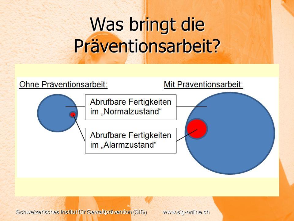 Was bringt die Präventionsarbeit.