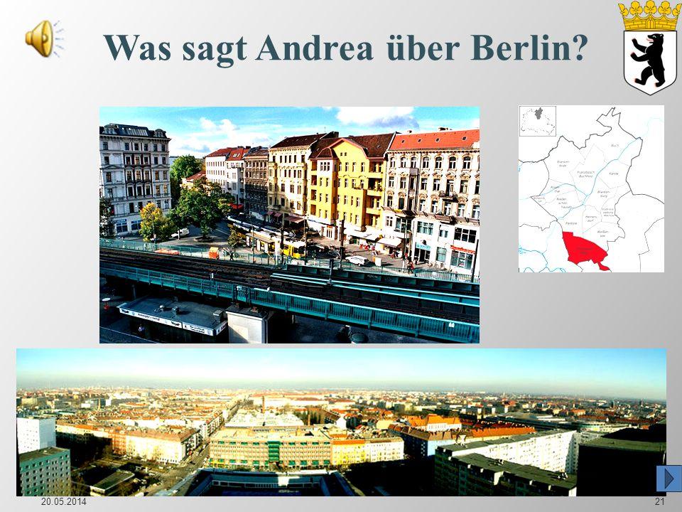 Was sagt Andrea über Berlin? 20.05.201421