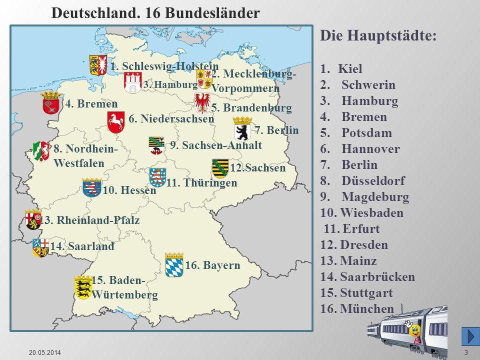 3 7. Berlin 1. Schleswig-Holstein 2. Mecklenburg- Vorpommern 5. Brandenburg 3. Hamburg 4. Bremen 6. Niedersachsen 9. Sachsen-Anhalt 8. Nordhein- Westf