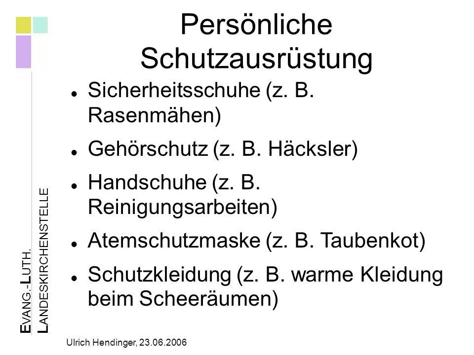 E VANG.- L UTH. L ANDESKIRCHENSTELLE Ulrich Hendinger, 23.06.2006 Struktur der Betreuung 2