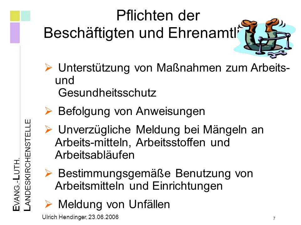 E VANG.- L UTH.L ANDESKIRCHENSTELLE Brandschutz WIE .