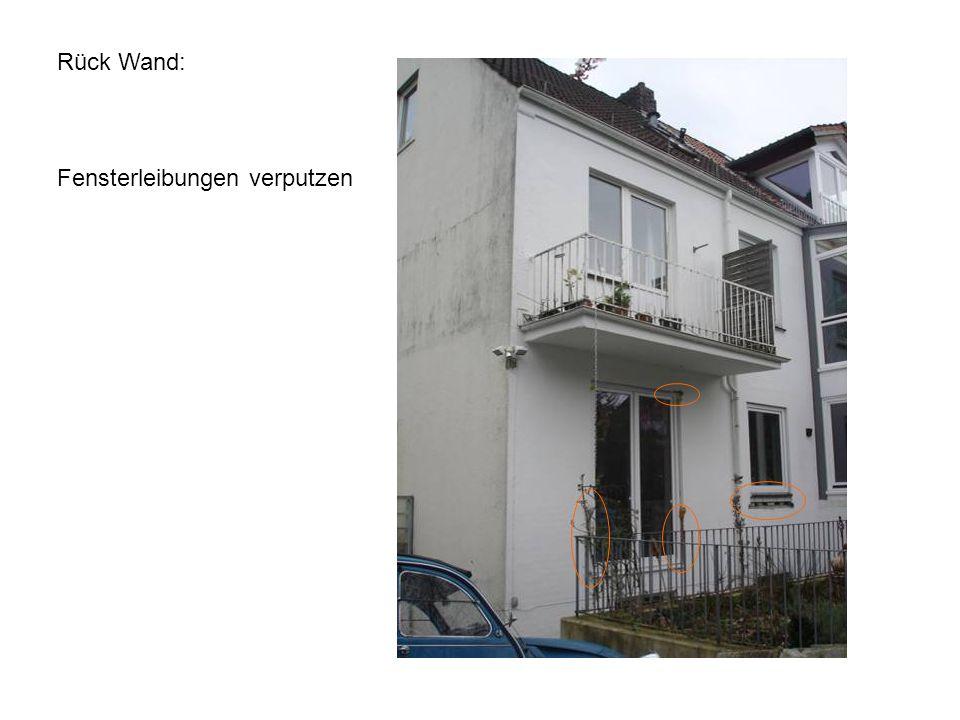 Rück Wand: Fensterleibungen verputzen