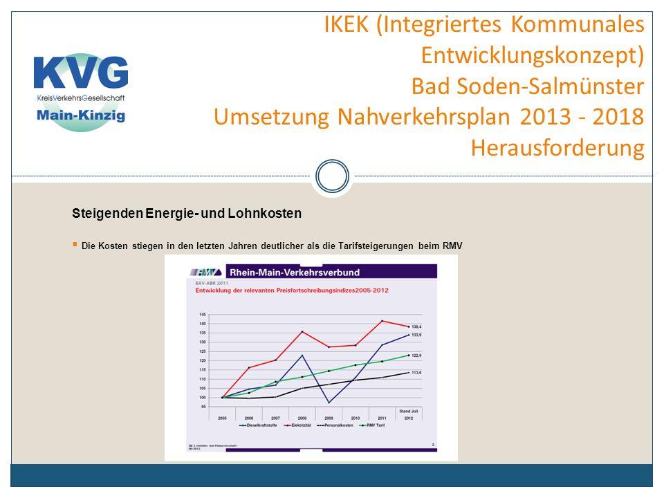 IKEK (Integriertes Kommunales Entwicklungskonzept) Bad Soden-Salmünster Umsetzung Nahverkehrsplan 2013 - 2018 Angebotskonzeption Die Angebotskonzeption 2013 – 2018 für das Linienbündel 8 Südvogelsberg