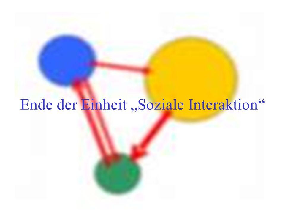 Ende der Einheit Soziale Interaktion