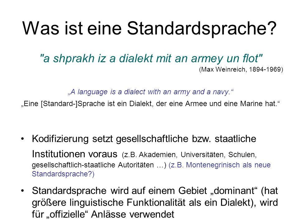 Was ist eine Standardsprache.