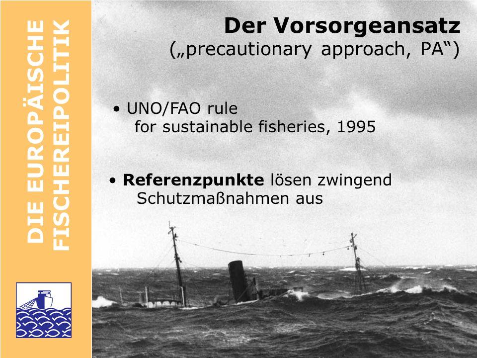 DIE FISCHEREI- WISSENSCHAFT Das Problem: indirekte Methoden Wie wird der Zustand eines Fischbestandes ermittelt.