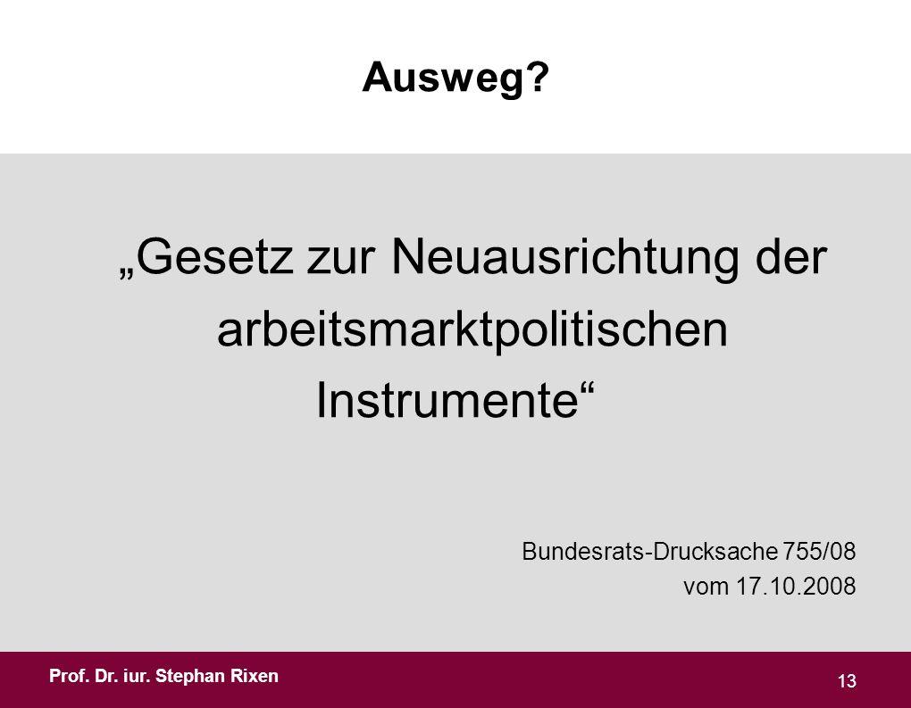 Prof.Dr. iur. Stephan Rixen Ausweg.