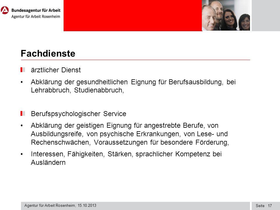 Seite Fachdienste ärztlicher Dienst Abklärung der gesundheitlichen Eignung für Berufsausbildung, bei Lehrabbruch, Studienabbruch, Berufspsychologische