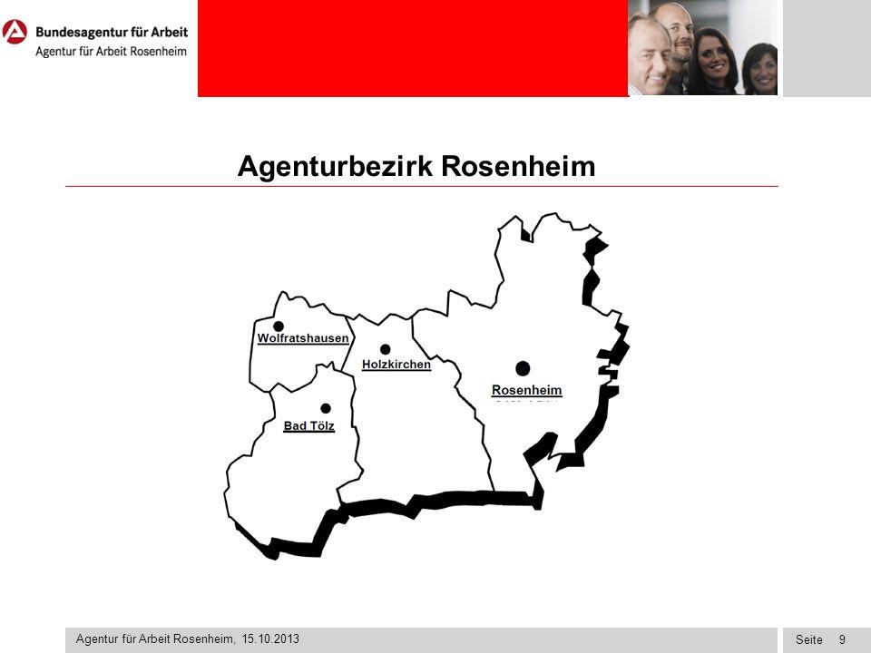 Seite Agenturbezirk Rosenheim Agentur für Arbeit Rosenheim, 15.10.2013 9