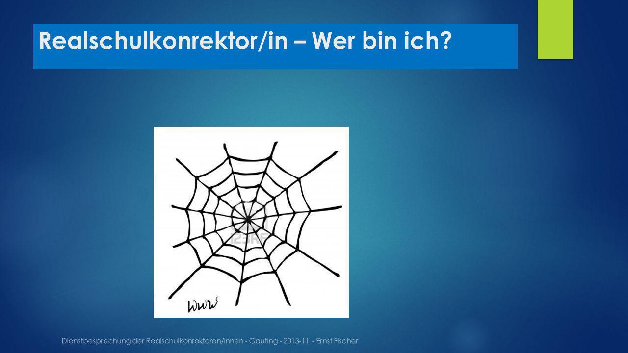 Realschulkonrektor/in – Wer bin ich? Dienstbesprechung der Realschulkonrektoren/innen - Gauting - 2013-11 - Ernst Fischer