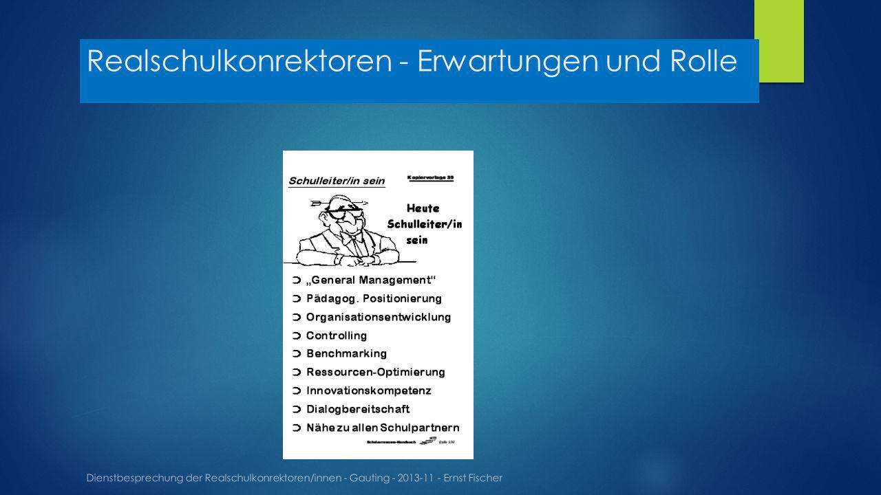 Realschulkonrektoren - Erwartungen und Rolle Dienstbesprechung der Realschulkonrektoren/innen - Gauting - 2013-11 - Ernst Fischer