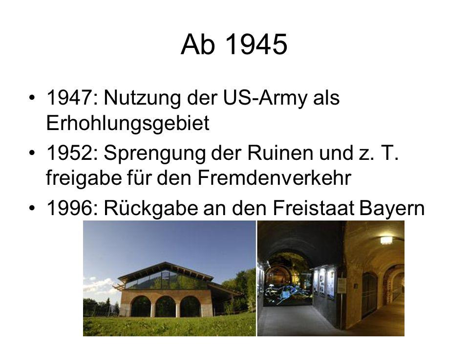 Von 1933 – 1945: Zweiter Regierungssitz neben Berlin 1936: Ausbau zu einer repräsentativen Residenz Hitler verbrachte insgesamt ca. 4 Jahre am Obersal