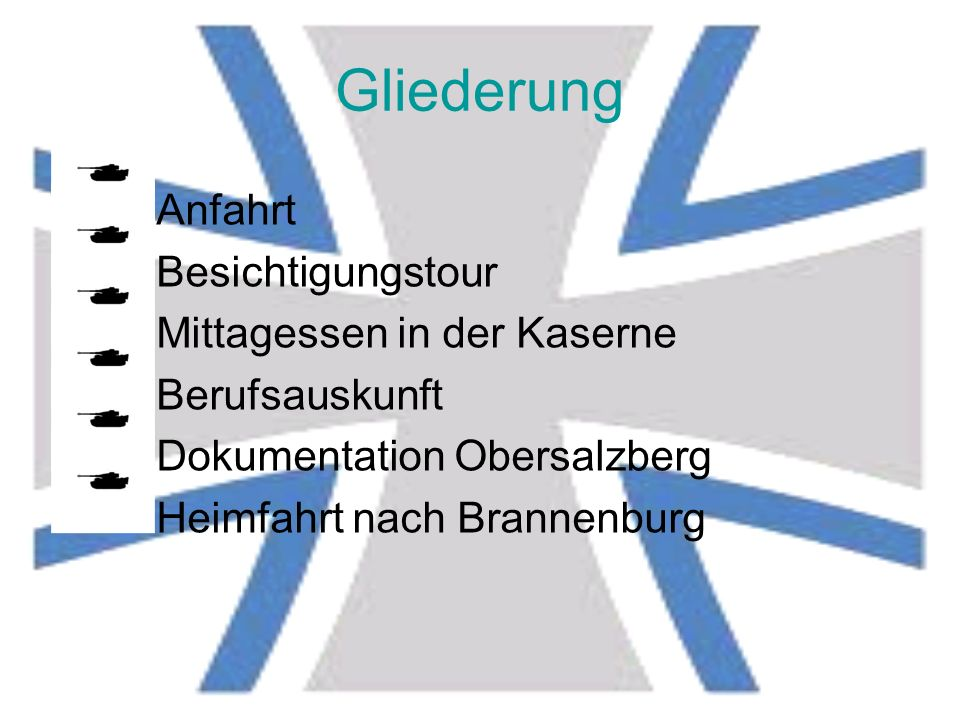 Unser Ausflug zur Bundeswehr- Kaserne