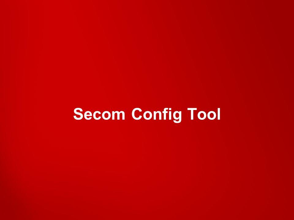 Secom Config Tool