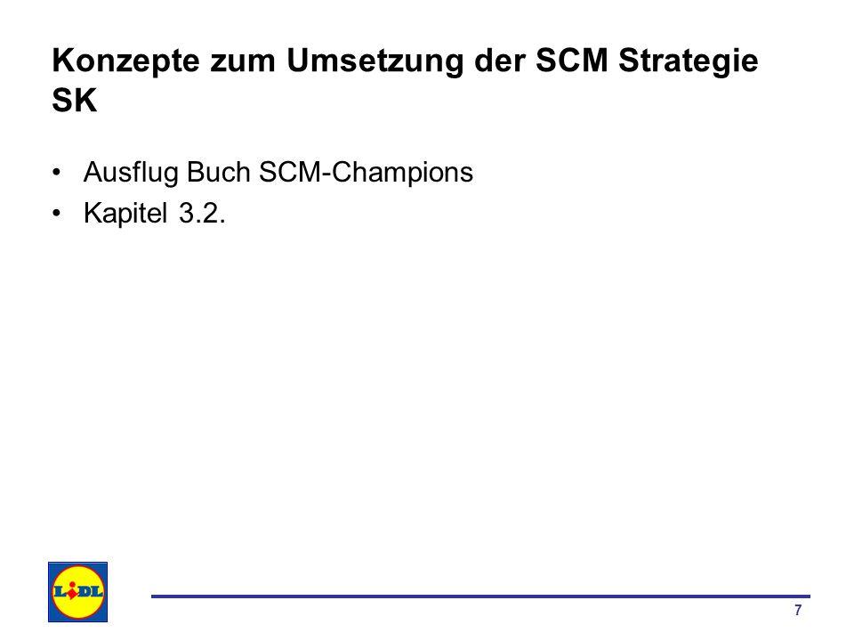 7 Konzepte zum Umsetzung der SCM Strategie SK Ausflug Buch SCM-Champions Kapitel 3.2.