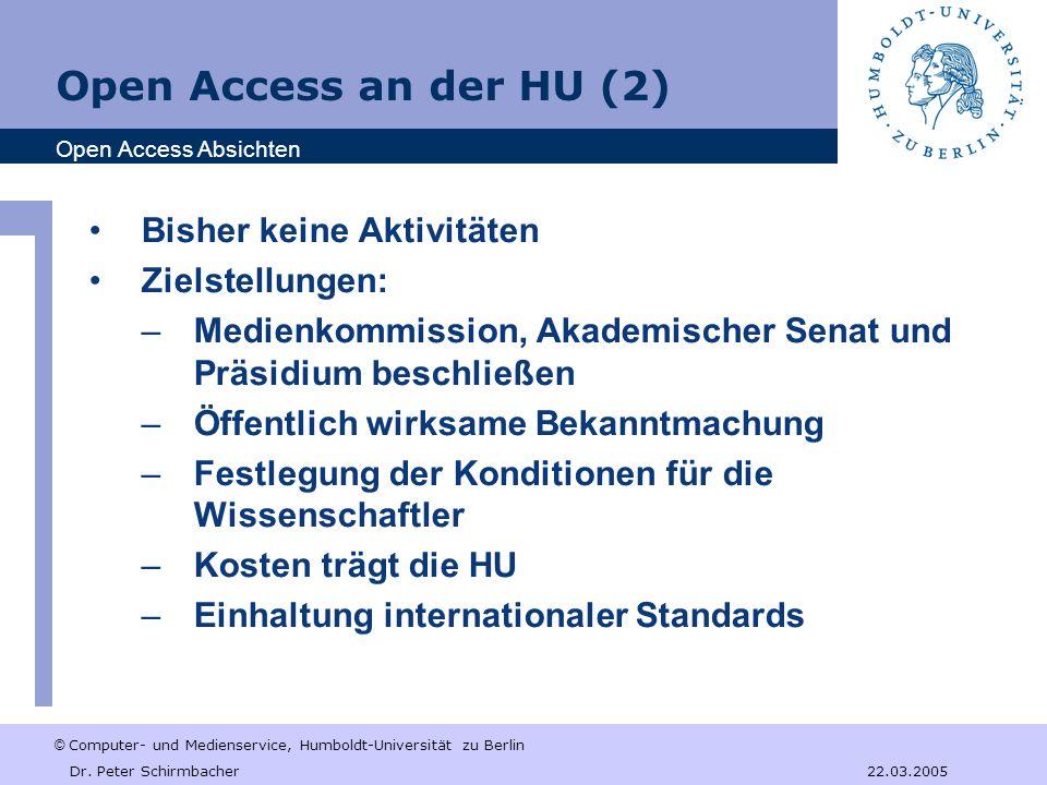 © Computer- und Medienservice, Humboldt-Universität zu Berlin Dr.