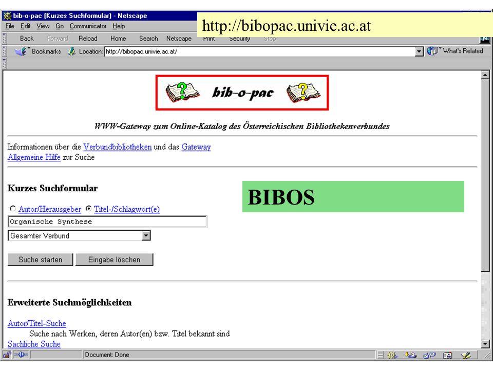 BIBOS http://bibopac.univie.ac.at