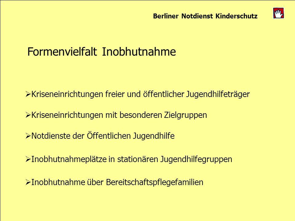 Berliner Notdienst Kinderschutz Formenvielfalt Inobhutnahme Kriseneinrichtungen freier und öffentlicher Jugendhilfeträger Kriseneinrichtungen mit beso