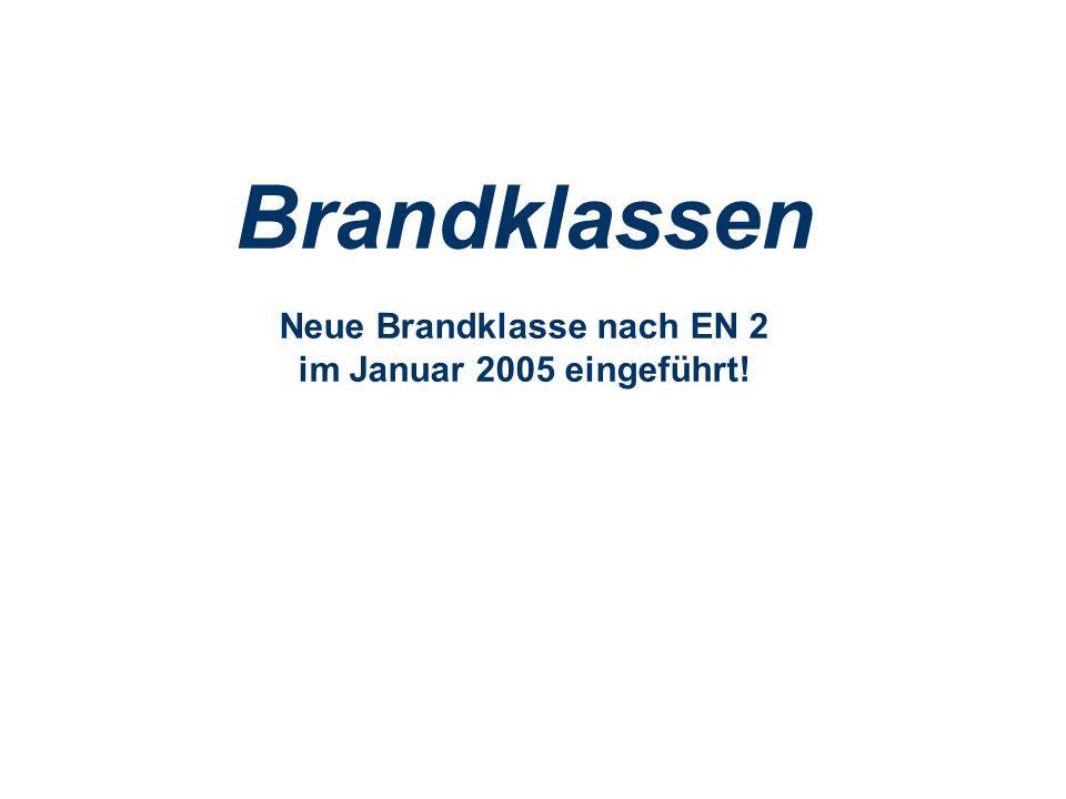 OBM Stefan Schiavulli www.ff-blofeld.de Ausbildung Feuerwehr Blofeld Folie 1 Brandklassen Neue Brandklasse nach EN 2 im Januar 2005 eingeführt!
