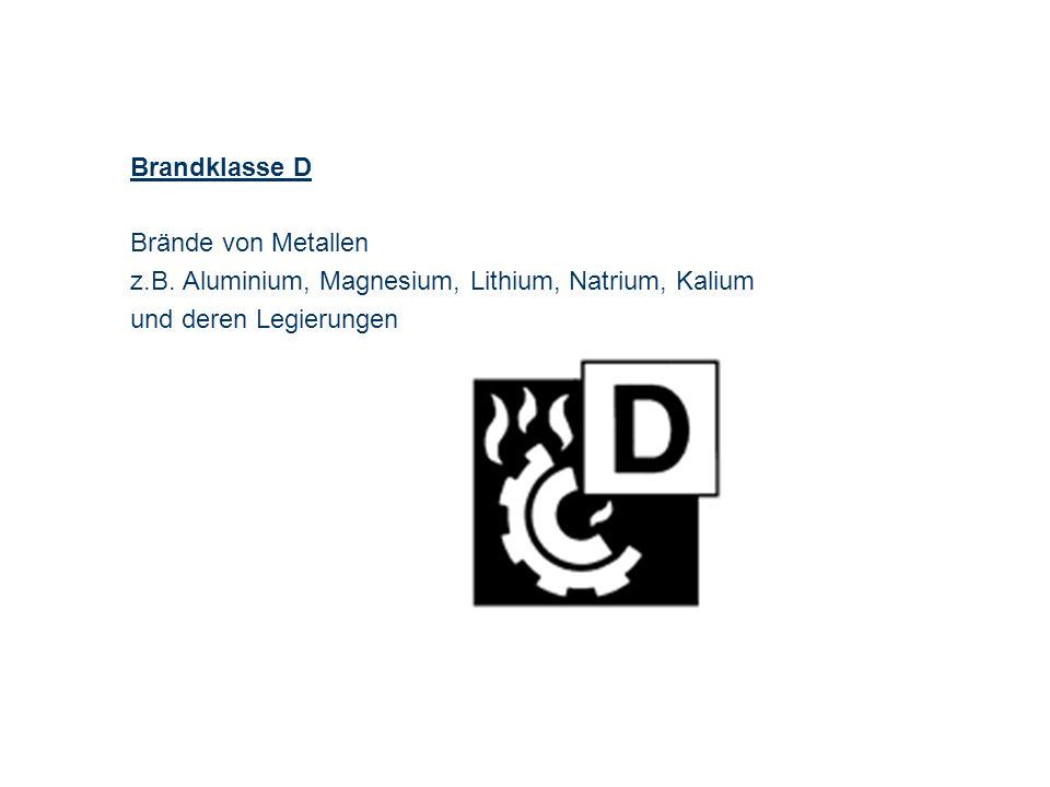 OBM Stefan Schiavulli www.ff-blofeld.de Ausbildung Feuerwehr Blofeld Folie 6 Brandklasse D Brände von Metallen z.B. Aluminium, Magnesium, Lithium, Nat