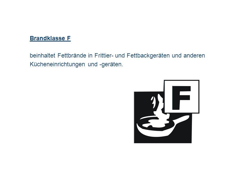 OBM Stefan Schiavulli www.ff-blofeld.de Ausbildung Feuerwehr Blofeld Folie 7 Brandklasse F beinhaltet Fettbrände in Frittier- und Fettbackgeräten und