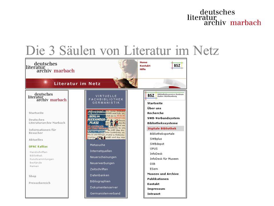 Die 3 Säulen von Literatur im Netz