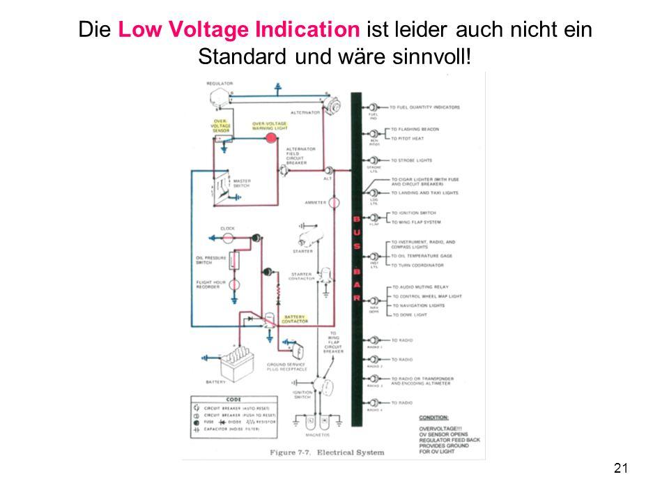 21 Die Low Voltage Indication ist leider auch nicht ein Standard und wäre sinnvoll!